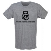 F3 Black Logo Men's Tri-Blend T-Shirt