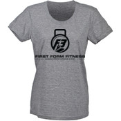 F3 Black Logo Women's Tri-Blend T-Shirt