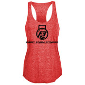 F3 Black Logo Women's Tri-Blend Tank Top
