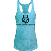 F3 Black Logo Women's Burnout Tank Top