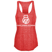 F3 White Logo Women's Tri-Blend Tank Top