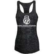 F3 White Logo Women's Burnout Tank Top