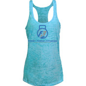 F3 Blue Logo Women's Burnout Tank Top