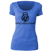 F3 Black Logo Women's Tri-Blend Scoop Neck Tee
